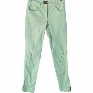 H&M Corduroy Mint Green Pants Size 8
